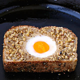 Walnut-Crusted Toad in a Hole.