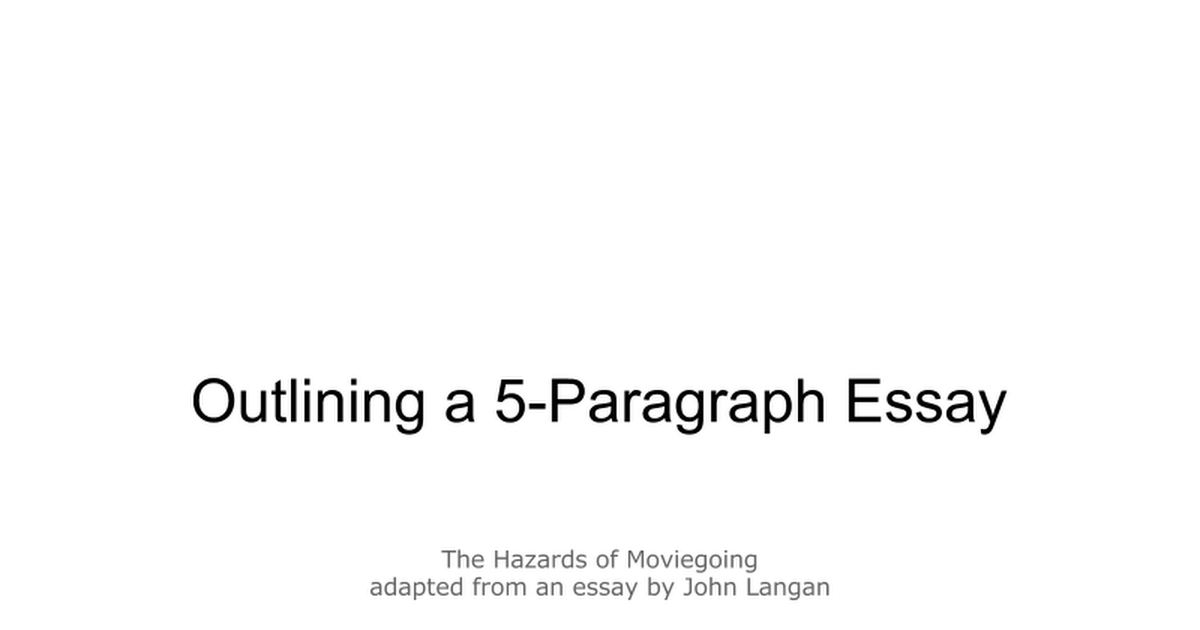 outlining a paragraph essay the hazards of moviegoing 01 24 12 outlining a 5 paragraph essay the hazards of moviegoing google slides