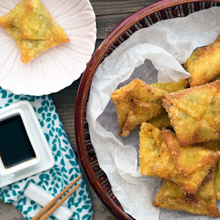 Fried Prawn Dumplings with Water Chestnut & Ginger
