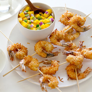 Coconut Shrimp with a Mango Salsa.