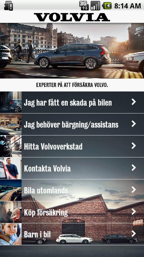 Volvia - Försäkring för Volvo - screenshot