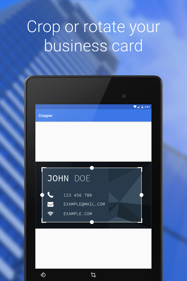 Business card reader android apps on google play for Business card app for android