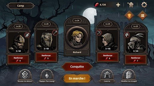Code Triche King's Blood: La Défense apk mod screenshots 1