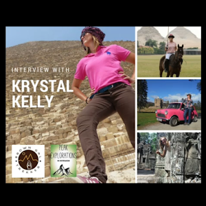 Travel Podcasts for women interviewing Krystal Kelly