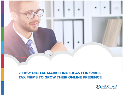 Cover of 7 Easy Digital Marketing Ideas with face of businessman