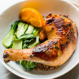 Marinated Chicken Legs with Bok Choy