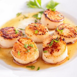 Seared White Wine Scallops Recipe