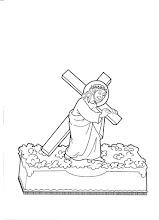 Photo: trono jesús con cruz a cuestas