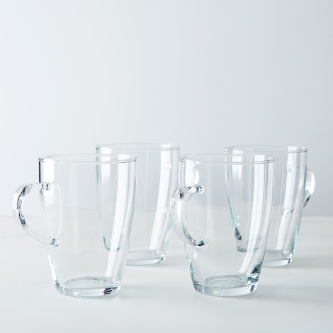 Borosilicate Glass Tall Cafe Mug (Set of 4)