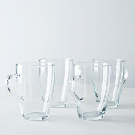 Borosilicate Glass Tall Cafe Mug (Set of 4)