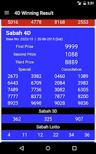 4D Winning Result - screenshot thumbnail