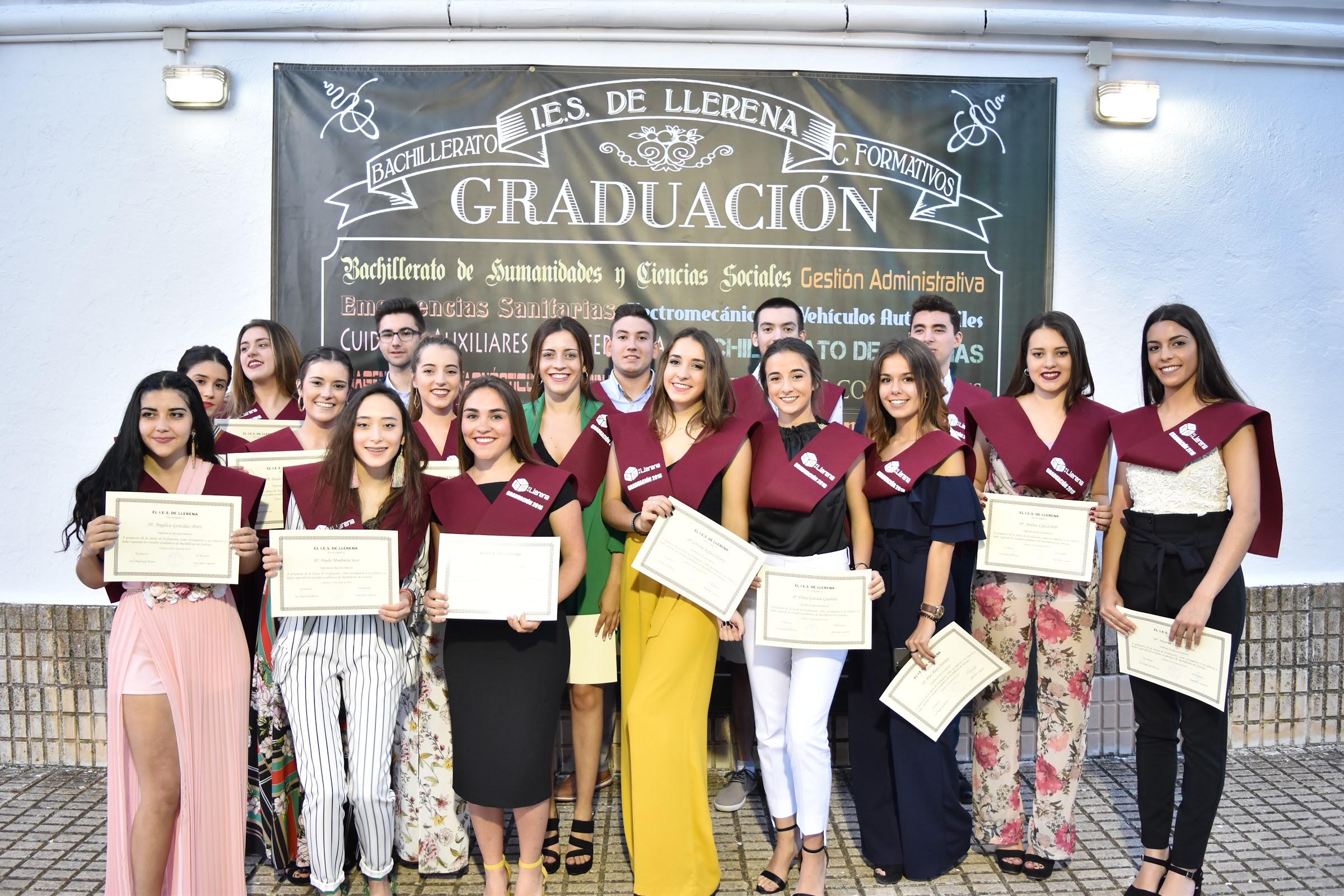 Acto de Graduación 2018 en el I.E.S. de Llerena