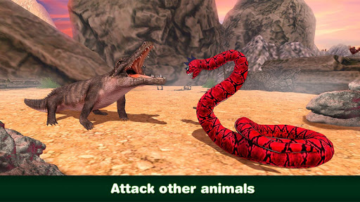 Wild anaconda snake fighting: animals battle game game (apk) free.