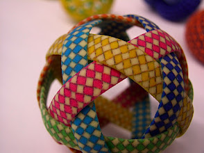Photo: weaving the dual triacontahedron
