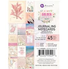 Prima Journaling Card 3X4 45/Pkg - Golden Coast UTGÅENDE
