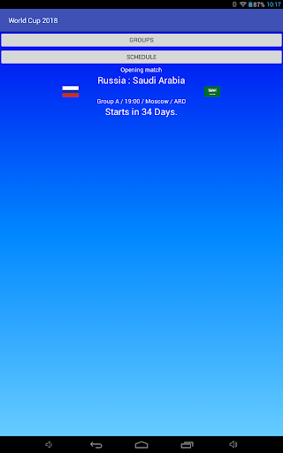 Football World Cup 2018 in Russia, Schedule  screenshots 4