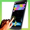 bubble shooter laser simulated icon