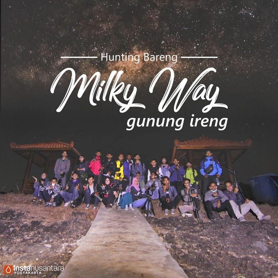 hunting bareng milky way gunung ireng instanusantara DIY