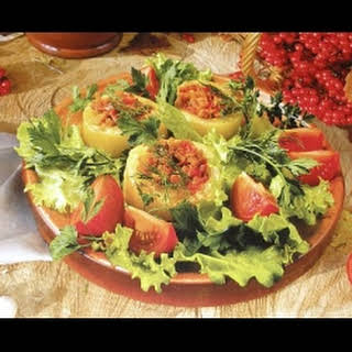 Vegetable Marrows With Meat.