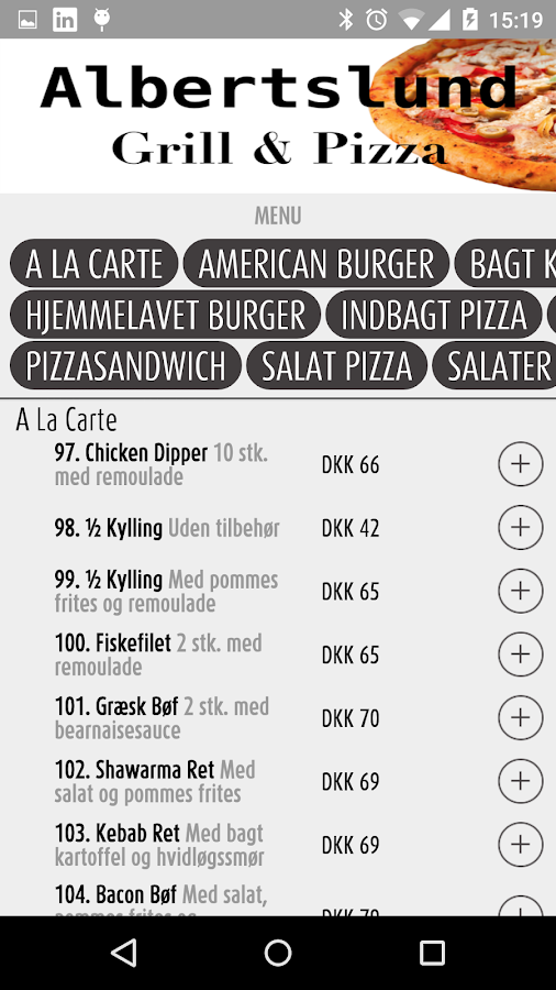 Albertslund Grill & Pizzabar- screenshot