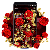 Golden Red Rose Theme Android APK Download Free By Fancy Theme Palace