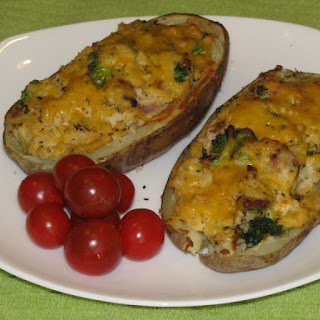 Bacon and Broccoli Stuffed Double Baked Potatoes – 288 Calories Recipe