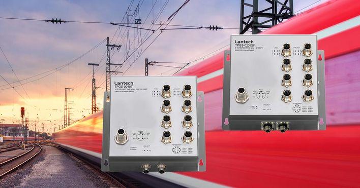 Lantech коммутаторы с поддержкой PoE IEEE802.3bt для подвижного состава рельсового транспорта