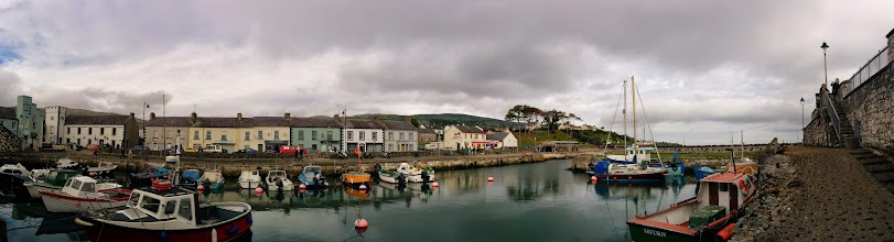 Photo: Carnlough. A quick stop to stretch our legs on the way to the Giants Causeway.