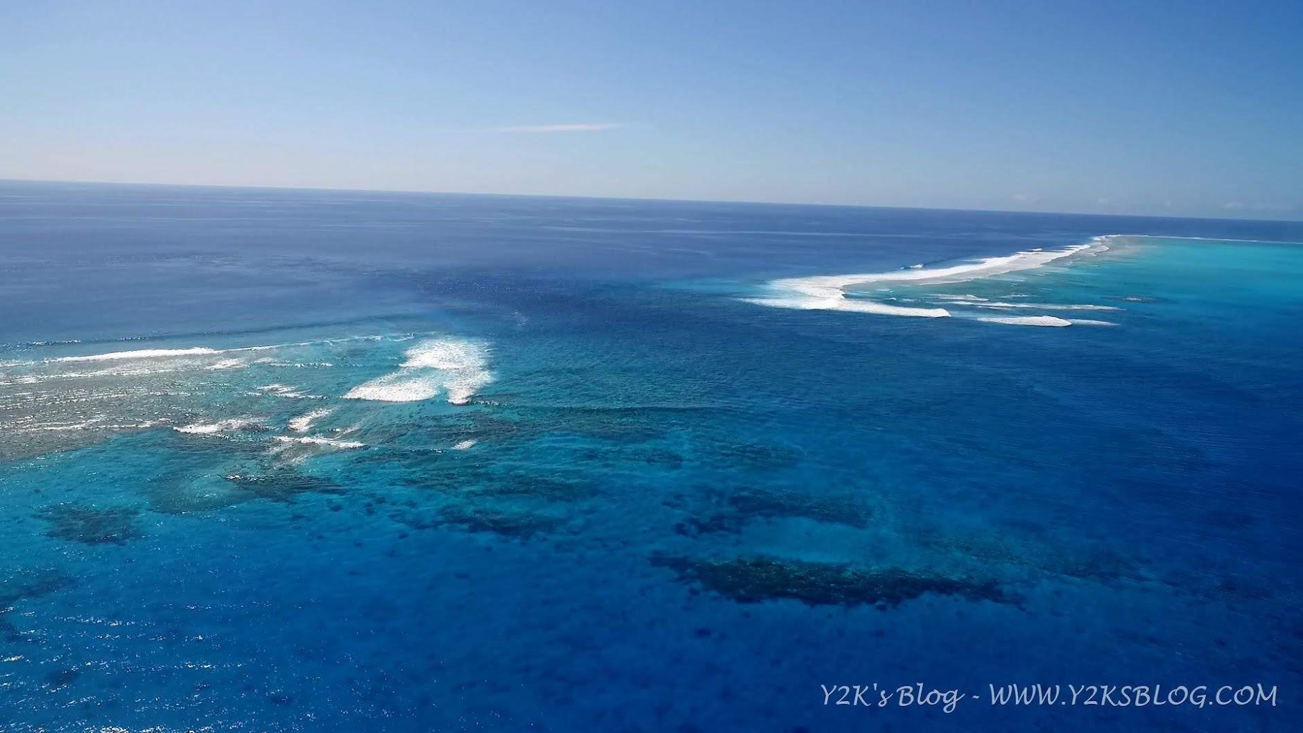 Dal drone: la pass di Beveridge Reef