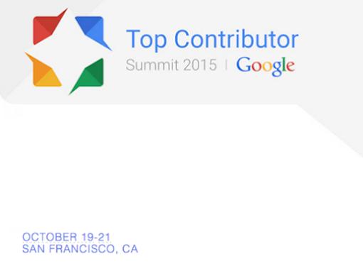 Google Top Contributor Summit 2015
