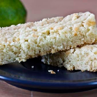 Lime and Coconut Shortbread Bars