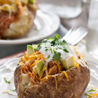 Chicken Enchilada Stuffed Baked Potatoes