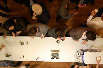 Photo: Les étudiants du bacc en géomatique de l'université Laval ont tenu le bar de manière très professionnelle. Ils avaient notamment un système portatif de bière en fût de la microbrasserie Le Corsaire de Lévis