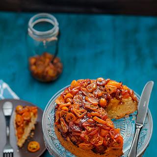 Vanilla Infused Kumquat Marmalade Semolina Cake