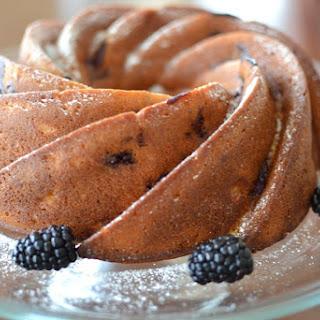 Blackberry Banana Bundt Cake.