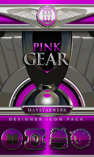 Pink Gear HD Icon Pack- screenshot thumbnail