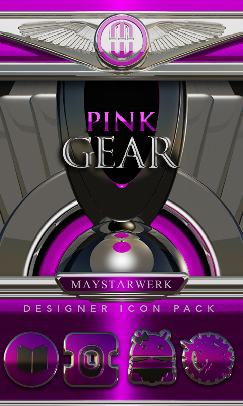 Pink Gear HD Icon Pack- screenshot