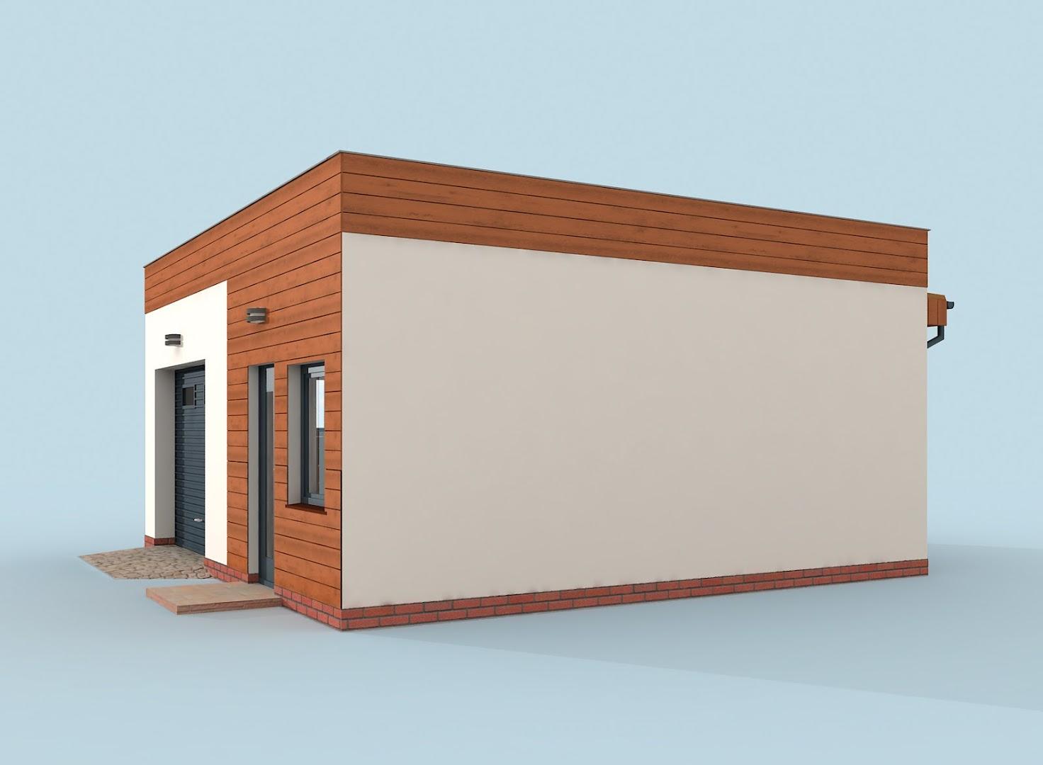 Projekt Garażu G308 Szkielet Drewniany Garaż Jednostanowiskowy Z