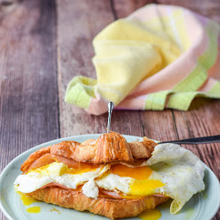 Ham, Egg and Cheese Croissant Sandwich.