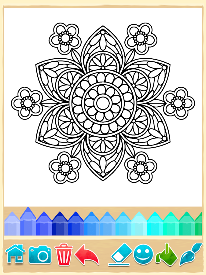 Coloring Pages App For Android : Mandala coloring pages android apps on google play