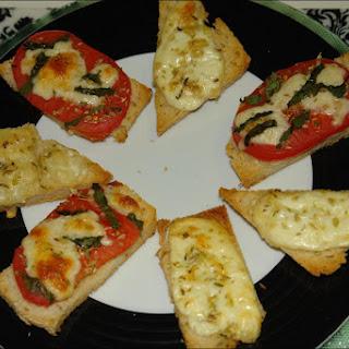 Goat Cheese  and tomato Tapas.