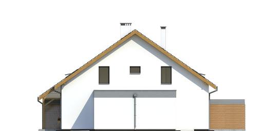 Azalia z garażem 1-st. bliźniak A-BL1 - Elewacja prawa