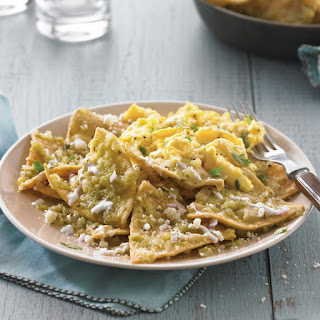 Chilaquiles with Tomatillo Salsa and Eggs