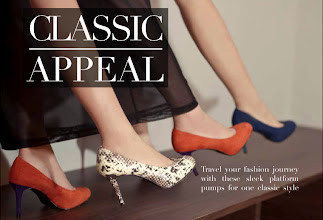 Photo: Travel your fashion journey with these sleek platform pumps for one classic style  Chic Statement | CK1-60360491 | USD53.00 Available in Beige, Navy, Orange Prices may vary  Visit your nearest store or CharlesKeith.com to find out more