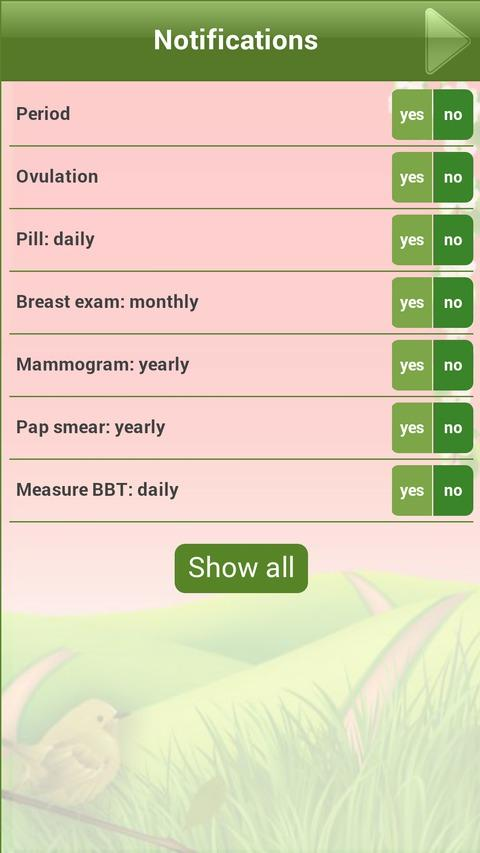 Menstrual Period Tracker - screenshot