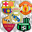 Footballs Team Logo Coloring by Number-Soccer Logo icon