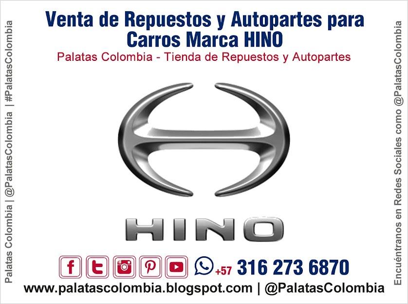 Venta de Repuestos y Autopartes para Carros Marca HINO en Bucaramanga | Palatas Colombia Repuestos y Autopartes @PalatasColombia WhatsApp +57 3162736870