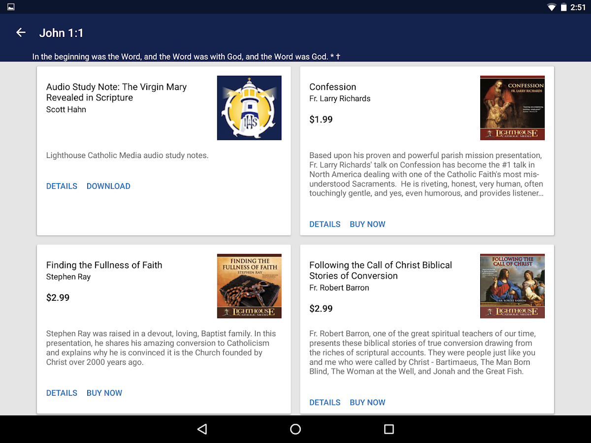 Catholic Study Bible App – Screenshot