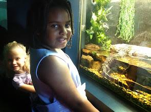 Photo: the girls w/ the iguana