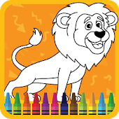 Kids Coloring Book : Cute Animals